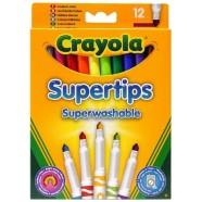 Crayola pestavad markerid Supertips 12 tk