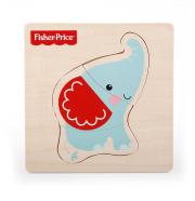 Fisher Price puidust pusle Loomad 3 tk