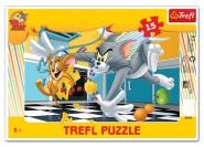 Trefl raamis pusle raamis Tom & Jerry 15tk