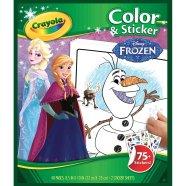 Crayola värvimise ja kleepimise raamat Frozen