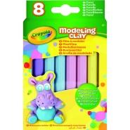 Crayola plastiliin, 8 pastelset värvi