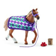 Schleich Horse Club Inglise täisvereline hobune tekiga