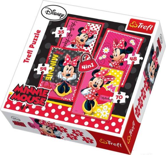 Trefl puslekomplekt Minnie 35+48+54+70 tk