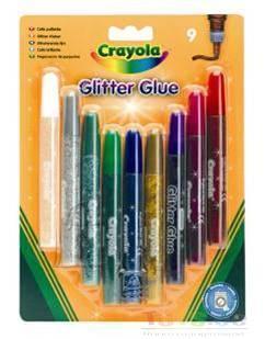 Crayola sädelevad liimpliiatsid 9 tk