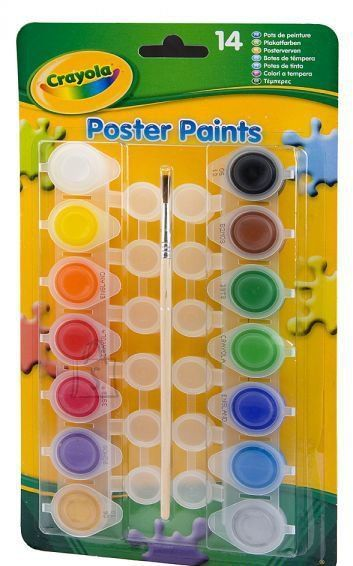 Crayola plakativärvi komplekt