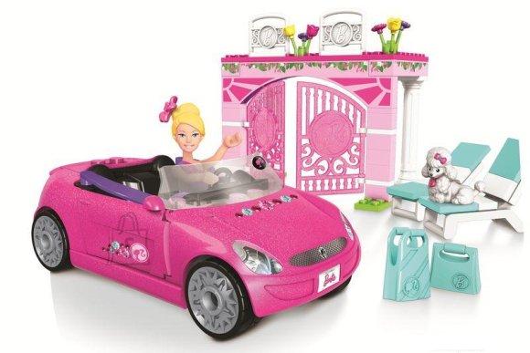 Mega Bloks Barbie nuku auto