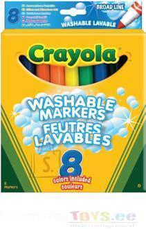 Crayola CRAYOLA 8 pestavat markerit