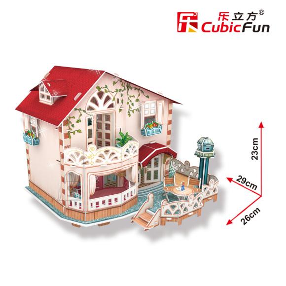 CubicFun 3D pusle Holiday Bungalow Nukumaja 114 tk