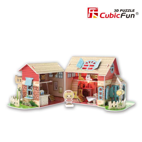 CubicFun 3D pusle Sweet Villa Maja 84 tk