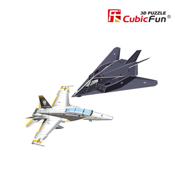CubicFun 3D pusle Lennukid Nighthawk & Hornet 13+27 tk