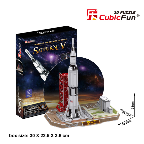 CubicFun 3D pusle Saturn V 68 tk