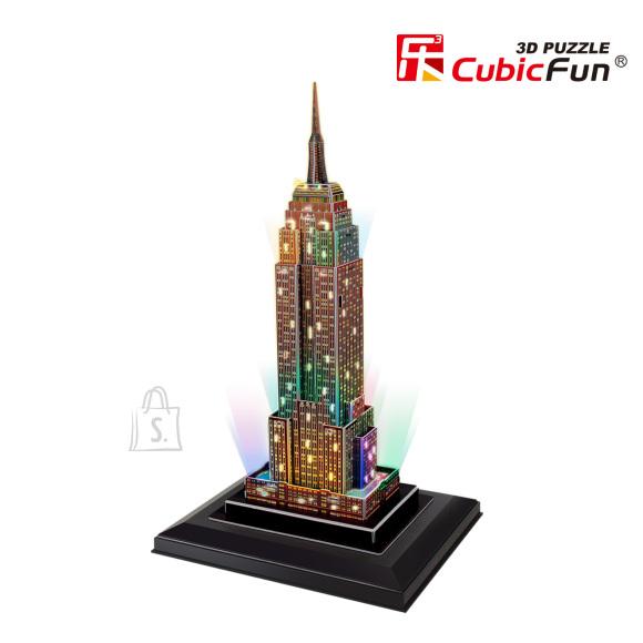 CubicFun 3D pusle Empire State Pilvelõhkuja (valgustusega) 38 tk