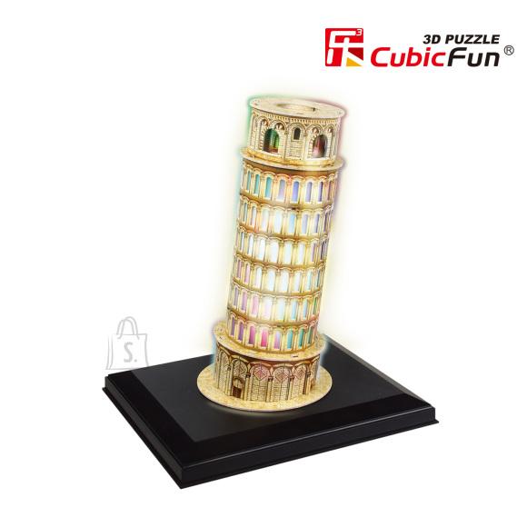 CubicFun 3D pusle Pisa Torn (valgustusega) 15 tk
