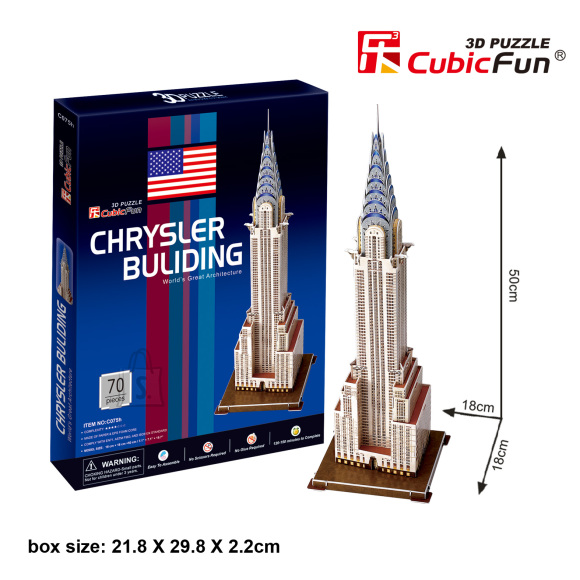 CubicFun 3D pusle Chrysler Pilvelõhkuja 70 tk