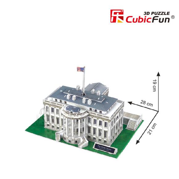 CubicFun 3D pusle Valge Maja 64 tk