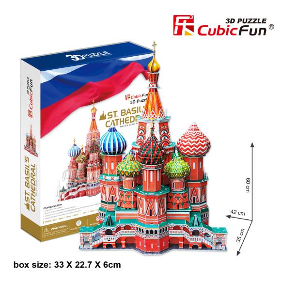 CubicFun 3D pusle Püha Vassili Katedraal 214 tk