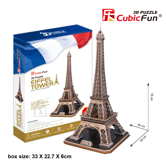 CubicFun 3D pusle Eiffeli Torn 82 tk