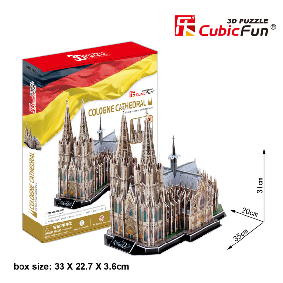 CubicFun 3D pusle Cologne Katedraal 179 tk