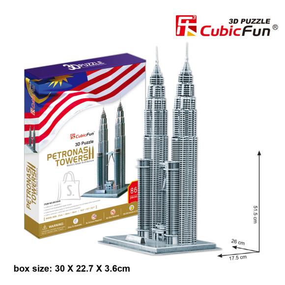 CubicFun 3D pusle Petronas Tornid 86 tk