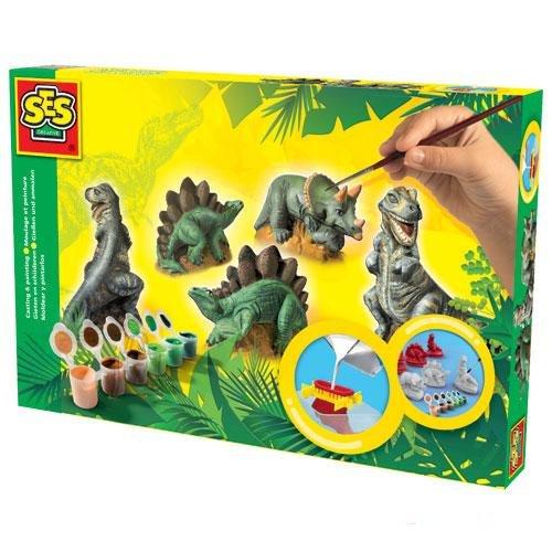 Ses kipsi valamise komplekt Dinosaurused