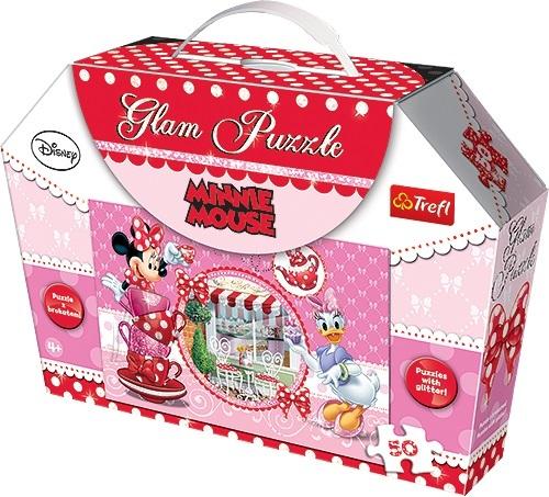 Trefl sädelev pusle Minnie Mouse 50 tk