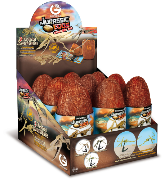 Geoworld mudelskelett Jurassic muna- lendavad koletised