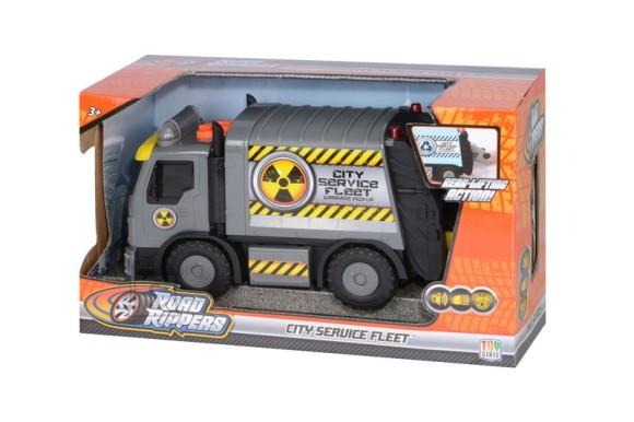 Toy State heli ja valgustusega prügiauto