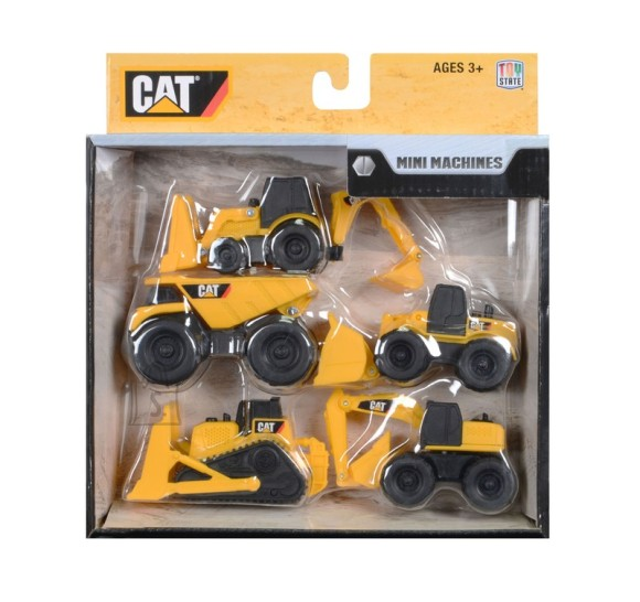 Toy State mängusõidukite komplekt Cat 5tk
