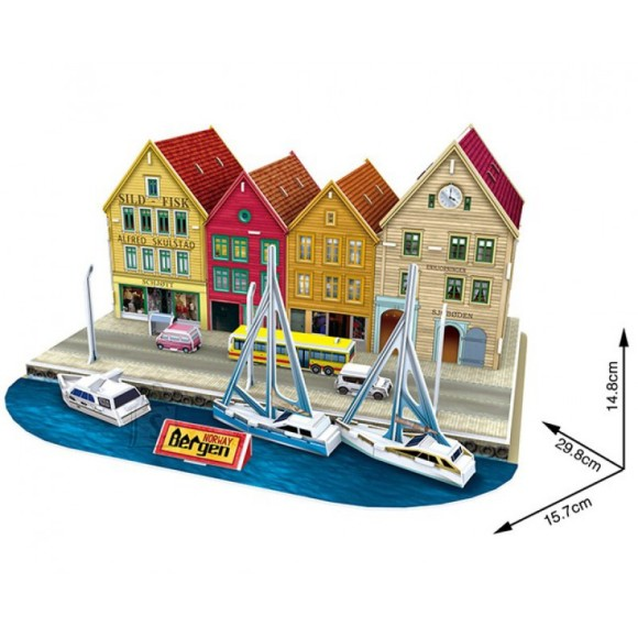 CubicFun 3D pusle Bergen 44 tk