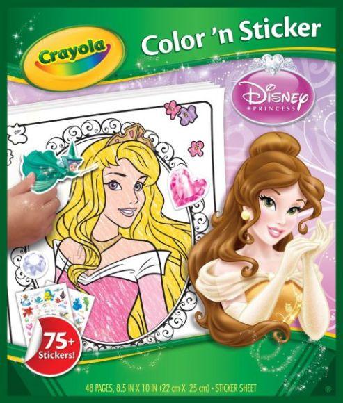 Crayola värvi- ja kleebisteraamat Printsessid