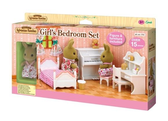 Sylvanian Families tüdrukute magamistuba jänesega