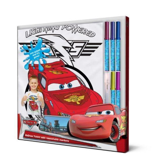 Disney Autode T-särk + pestavad markerid 104 cm