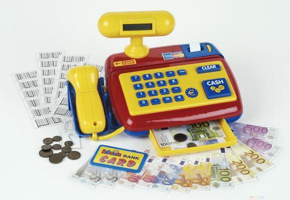 Klein kassa elektroonilise triipkoodilugejaga
