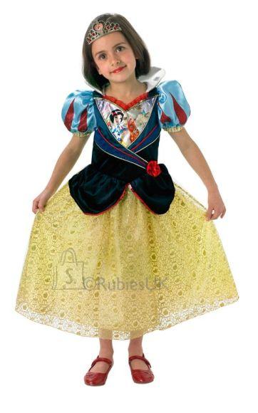 Disney Rubies sädelev kostüüm Lumivalgeke (7-8 aastastele)
