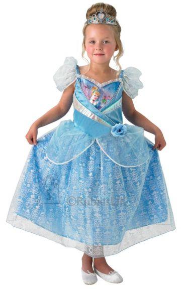 Disney Rubies sädelev kostüüm Tuhkatriinu (7-8 aastastele)