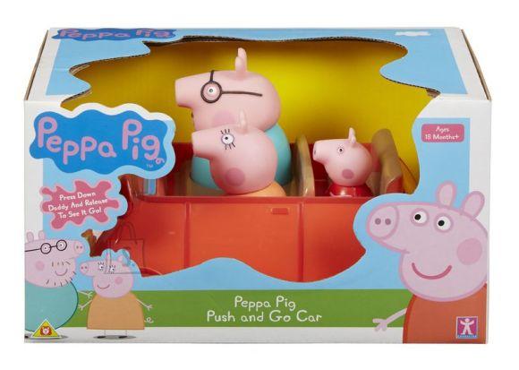 Peppa Pig mängukomplekt vajutatav auto
