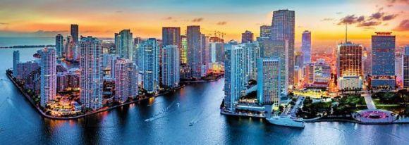 Trefl panoraampusle Miami päikeseloojang 1000 tk