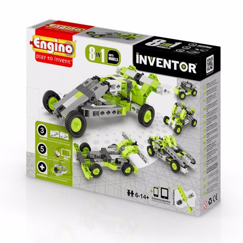 Engino Inventor konstruktor autod 8 mudelit