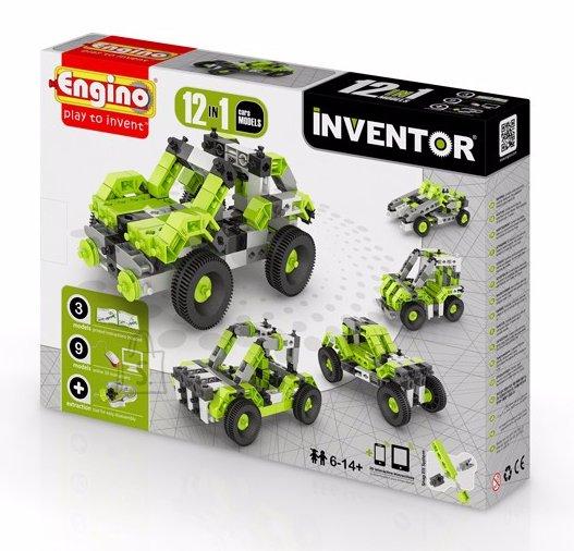 Engino Inventor konstruktor autod 12 mudelit