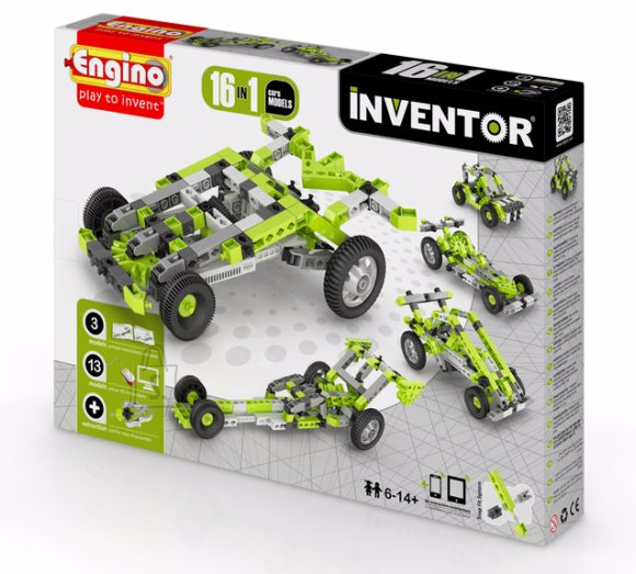 Engino Inventor konstruktor autod 16 mudelit