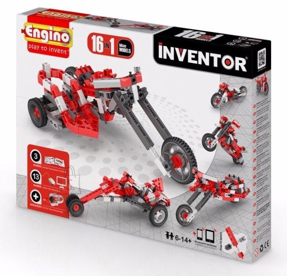 Engino Inventor konstruktor mootorrattad 16 mudelit
