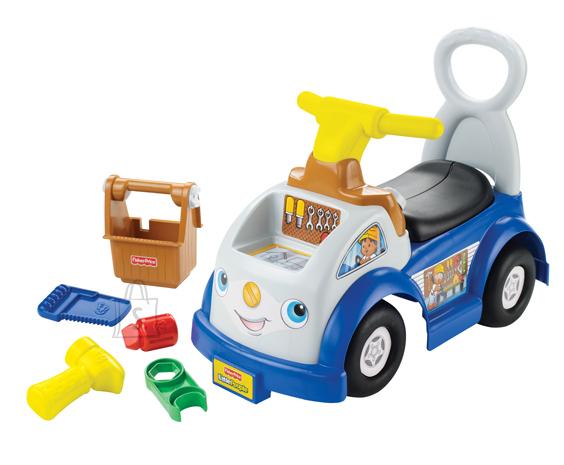 Fisher Price jalgadega lükatav auto koos tööriistakomplektiga