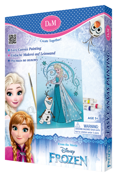 Frozen lõuend pildiga Elsa & Olaf 18 x 24 cm