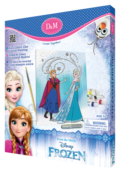 Frozen lõuend pildiga Elsa & Anna 25 x 30 cm