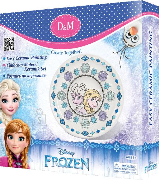 Frozen värvitav taldrik Elsa & Anna