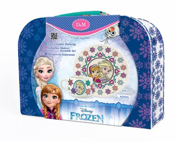 Frozen keraamiline värvitav nõudekomplekt Elsa & Anna