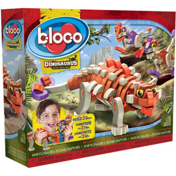 Bloco konstruktor Ankilosaurus ja raptorid, 200 osa