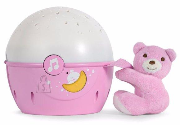 Chicco roosa Next 2 Stars projektor/öölamp