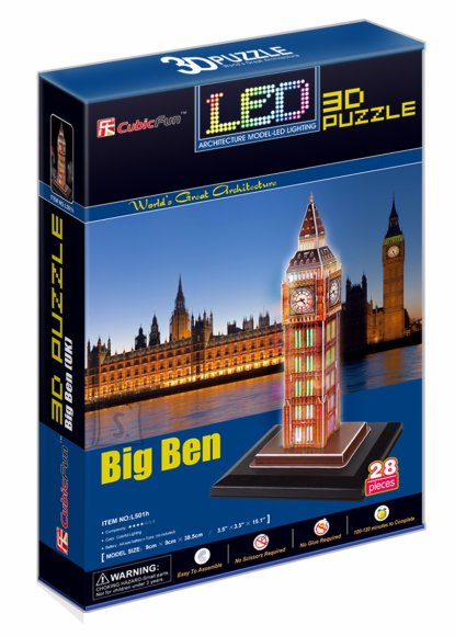 CubicFun 3D pusle Big Ben LED