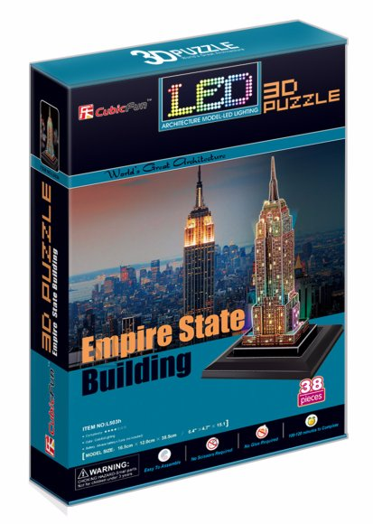 CubicFun 3D pusle Empire State Building LED
